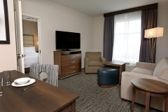 Suite living space at Homewood Suites by Hilton - West Fargo - EPIC Companies