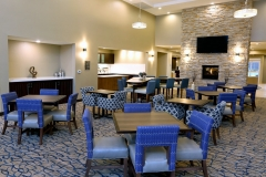 Lobby and breakfast area at Homewood Suites by Hilton - West Fargo - EPIC Companies