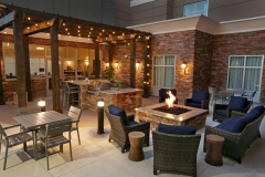 Outdoor patio with fire pit at Homewood Suites by Hilton - West Fargo - EPIC Companies