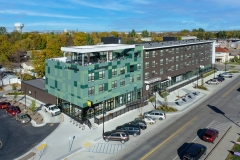Pioneer Place Apartments and Commercial space West Fargo exterior