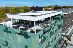 Pioneer Place Apartments and Commercial space West Fargo rooftop patio