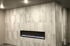The Firm Community Room Fireplace