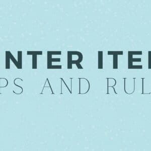 Winter Items Tips and Rules